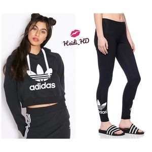 Adidas Originals Trefoil Black Outfit
